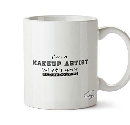 hippowarehouse I 'm a Make-up Künstler Was ist Ihre Supermacht? 283,5Tasse, keramik, weiß, One Size (Up Glamour Tutorial Make)