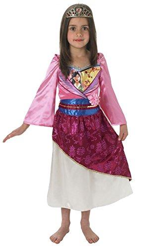 Disney Prinzessin Kinder Kostüm Mulan Shimmer mit Diadem Gr.S(3-4J.)