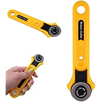 Cortador de rodillo adulto amarillo Cuchilla de corte circular Tela de corte Cortador redondo 28 mm Accesorios para herramientas de acolchado de acero inoxidable (amarillo)