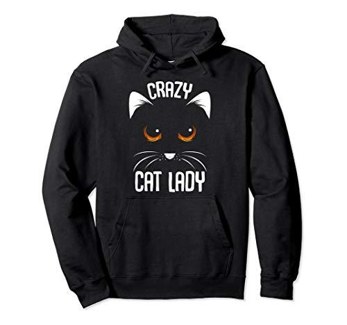 Crazy Cat Lady Ideales Geschenk Katzenliebhaberin Katzenmama Pullover - Crazy Cat Woman Kostüm