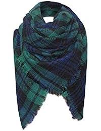 foulards, Tefamore Femmes châle en cachemire automne écharpe en laine à carreaux  écharpe 1c078abafd3