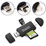 Bestele SD/Micro SD/TF Kartenleser USB Type C//USB 2.0/Micro USB 3 in 1 Stecker Adapter Speicherkartenleser