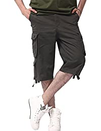 Hombres Leisure Casual Suelto Color Sólido Pantalones Cortos Playa Shorts