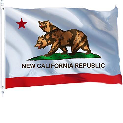 Marine Corps Adler, Globus Und Anker (Unbekannt G128New California State Flagge 3x 5ft Tüllen Messing 150D Qualität Gedruckt Polyester-Flagge-Viel Dicker und Robuster als 100D und 75D Polyester)