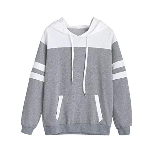 MEIbax Damen Hoodie Sweatshirt Langarm Pullover mit Kapuze Pullover Tops Bluse Sport Oberteile...