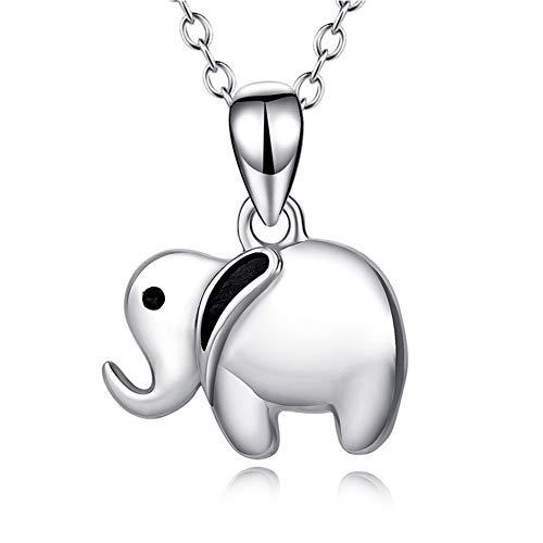 BBYaki Lucky Elephant Pendant Necklace Plata de Ley 925 18