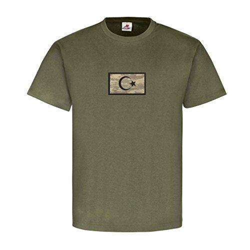Türkei Military Flaggen Türkey Soldaten Wappen Stolz Heimat Türke Halbmond Stern T Shirt #22907, Größe:XL, Farbe:Oliv