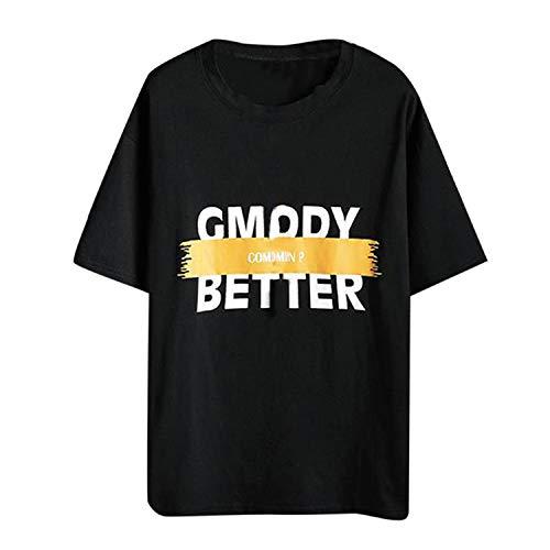 Zolimx Herren T-Shirt Kurzarm Shirt Mit Rundhalsausschnitt Männer Beiläufige große lose Druck-Kurzarm O-Ausschnitt T-Shirts übersteigt Bluse