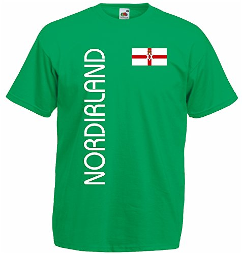 world-of-shirt Herren T-Shirt Nordirland EM 2016 Trikot Fanshirt|grün-L