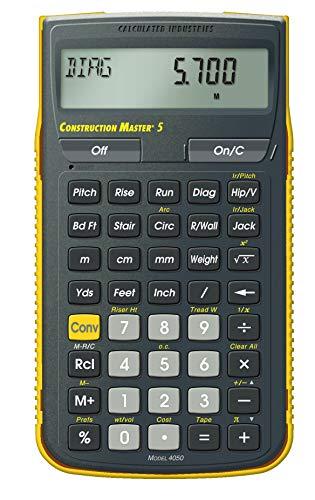 Calculated Industries Construction Master 5 Professioneller Taschenrechner für das Baugewerbe