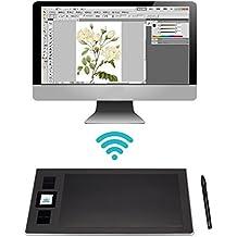 Huion DWH69 Inalámbrico Tableta Gráfica De Dibujo Con 8 Teclas Exprés, 5080 LPI, 2048 Sensibilidad De Presión
