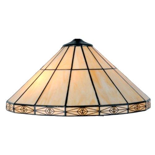 LumiLamp 5LL-3088 Tiffany Stil Lampenschirm Buntes Glas Art Deco Ca. Ø 41 cm handgefertigt glasschirm -