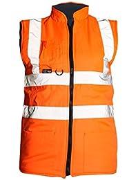 Fast Fashion - Hi Est Haut Viz Le Corps Travaux De Sécurité De La Visibilité En Polaire Réversible Warmers Gilets