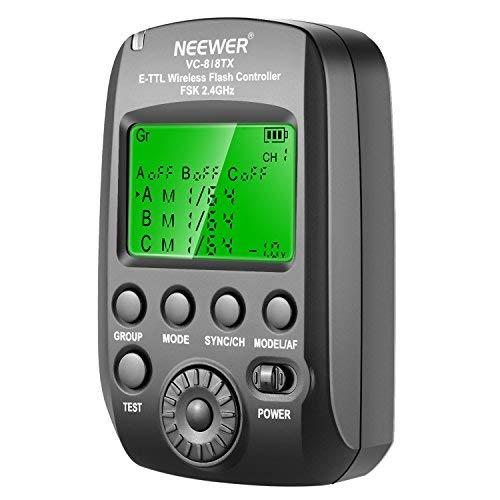 Neewer VC-818TX 2.4G Kabelloser Blitzauslöser Sender für Canon EOS DSLR Kamera und Vision 5 im Freien oder Studio Blitzauslöser Monolight