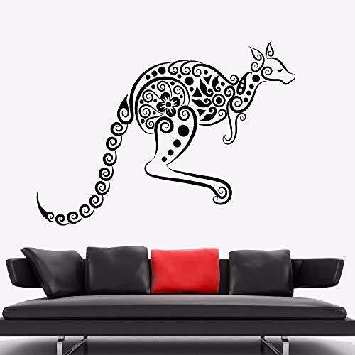 zqyjhkou Wandaufkleber Känguru Tier Vinyl Wandtattoo Australien Ornament Wandkunst Wandhaupt Wohnzimmer Dekor Känguru Vinyl Kunst Ay 78x57cm (Laptop Naruto Haut)