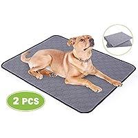 Pecute Empapadores Perros 2 PCS Almohadillas de Entrenamiento para Perros Toallitas de Entrenamiento Pañales Lavable Ultraabsorbente Reutilizables Empapadores Antideslizante (L 90x70cm)