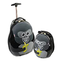Skykidz Gorilla Polycarbonate Trolley Suitcase with FREE Matching Backpack