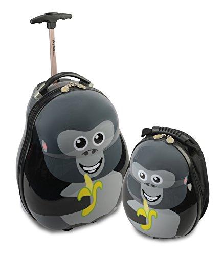 Skykidz Gorilla Zaino Trolley in policarbonato con Free