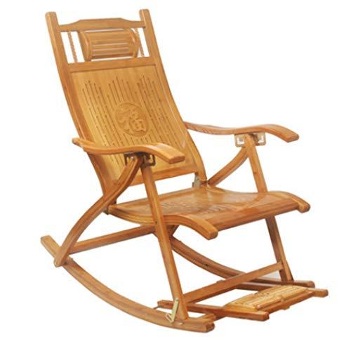 Fauteuils inclinables Chaise Longue Pliante Adulte Balcon Chaise À Bascule Personnes Âgées Déjeuner Chaise Chaise Sieste Chaise Chaise À Bascule Chaise Paresseuse Chaise Facile Cour Extérieure Chaise