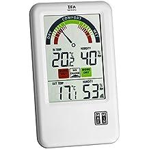 TFA 30.3045.IT Bel-Air Thermomètre Hygromètre sans fil (argent avec batteries)