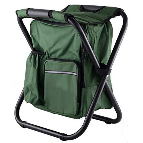 LJ&XJ Klappbar Rucksack-kühler Stuhl, Transportabel Multifunktion Isolierte eisbeutel Camping-stühle Mit gepolsterten Schulterriemen, Outdoor Picknicks-A -