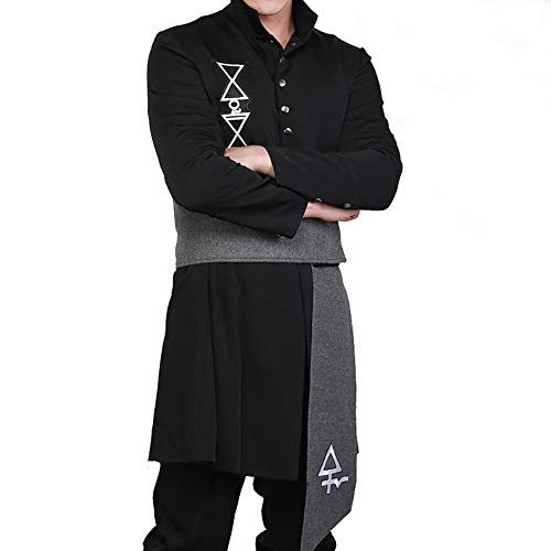Mersky Cosplay Kostüm Party und Halloween Outfit Lang Mantel ()