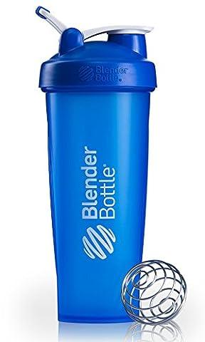 BlenderBottle Classic Loop Shaker | Eiweiß Shaker | Diät Shaker | Protein Shaker mit Blenderball blau 940ml