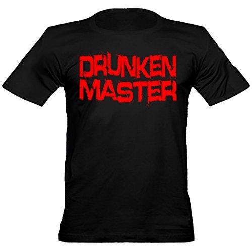 urban shaolin Herren Jackie Chan Inspiriert Drunken Master Rundhals T-Shirt, Xtra Large Schwarz - Bücher Fitted T-shirt
