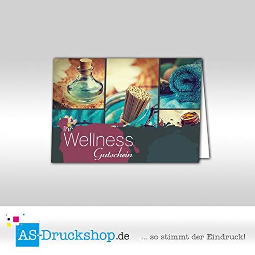 Gutschein Wellness - Türkisblau / 50 Stück/DIN A6