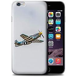 eSwish Coque de Coque pour Apple iPhone 6 / P-51 Mustang North American Design/Avion Historique 2eme Guerre Mondiale Collection