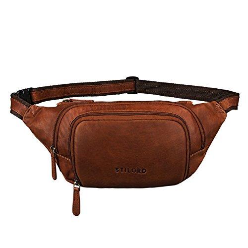 7308859582 STILORD 'Luke' Marsupio pelle vintage unisex da uomo e donna borsa da  cintura borsa da cintola per sport festival viaggio di vera pelle di  bufalo, ...
