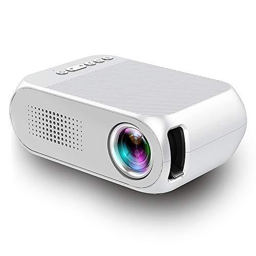Tonysa Proyector de Video, 600 lúmenes, resolución de 320 x 240, Cine en casa, proyector LCD 1080P HD, proyector de Cine en casa Compatible con Chino, inglés y Otros 23 Idiomas(Enchufe de la UE)