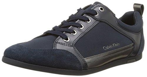 Calvin Klein CASH NYLON/SHINY CALF - Scarpe da Ginnastica Basse Uomo, Blu (mnt), 44 EU