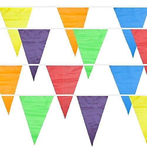 Wimpelkette, bunte Flaggen, Banner für Geburtstag, Party, Zuhause, Dekoration, Kuchen, Dekoration für Urlaub, Outdoor, 50 m 50 M mehrfarbig (Urlaub Kuchen)
