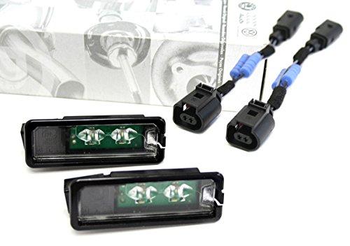 2x Volkswagen Original LED Kennzeichen Leuchten Kennzeichenbeleuchtung inkl. Wiederstandsadapter