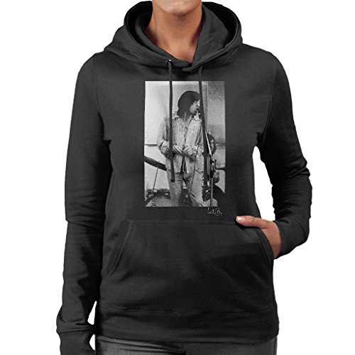 Willie Christie Official Photography - Willie Christie Official Photography - Rolling Stones Mick Jagger Rehearsal Apple Studios London Women's Hooded Sweatshirt (Studio Pullover Womens)