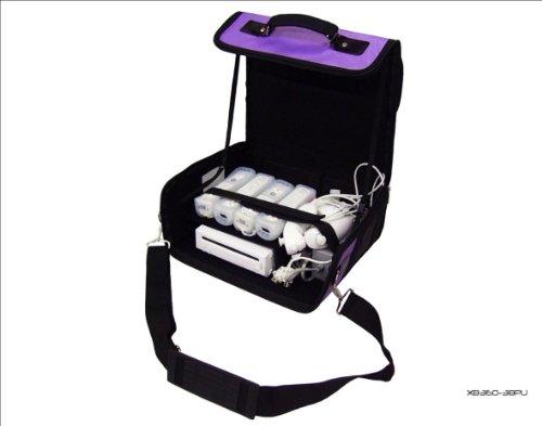 Nintendo Wii púrpura y negro bolsa/funda consola. También para coche uso.