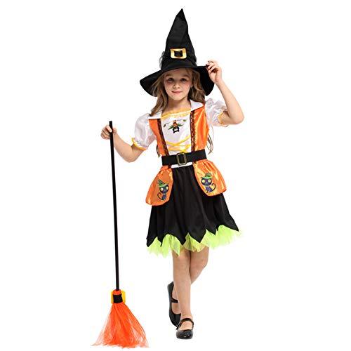 Kostüm Bösen Kleinkind - Fee Hexe Süße Hexe Kostüm Mädchen Halloween Fun Western Luxury Set,M