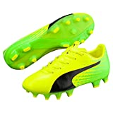 Puma Unisex-Kinder Evospeed 17.4 FG Jr Fußballschuhe, Gelb (Safety Yellow Black-Green Gecko 01), 38 EU