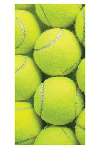 LimeWorks Badetuch, 70x140 cm, Tennis-Motiv Tennisbälle, Baumwolle/Mikrofaser, Made in EU -