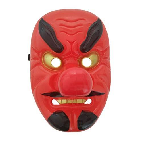 Rote Plastik Tengu Lange Nasen-Maske Horror Japanische Kriegers-Maske -