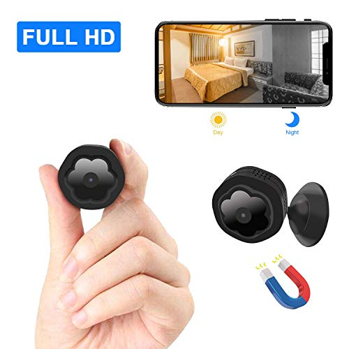 Mini überwachungskamera WiFi versteckte Wireless Kamera WLAN HD 1080P spionkamera Sicherheit Lange...