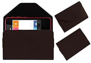 Acm Premium Pouch Case For Nokia Asha 501 Flip Flap Cover Holder Brown