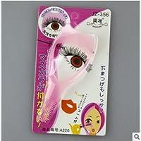 dersoning Cosmetic Mascara Eyeliner guía Eyelash Comb Applicator Helper (Pink)