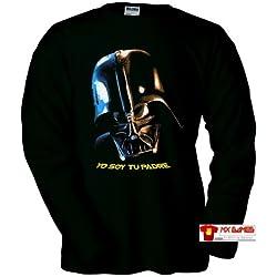 Camiseta Dart Vader (Yo soy tu Padre) M Larga (Talla: Talla XL Unisex Ancho/Largo [58cm/76cm] Aprox])
