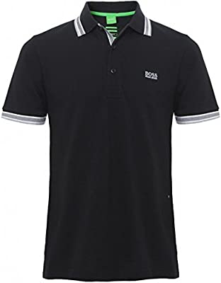 Hugo Boss Green Camisa de Polo de Paddy Negro