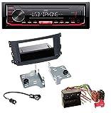caraudio24 JVC KD-X262 1DIN MP3 USB AUX Autoradio für Smart ForTwo (451 2010-2015)