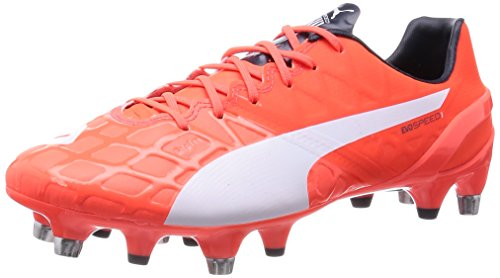 Puma evoSPEED 1.4 Mixed SG, Chaussures de football homme Arancione (Orange (lava blast-white-total eclipse 01))
