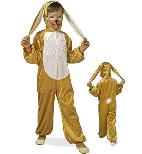 KarnevalsTeufel Kinderkostüm Hase, Osterhase, Overall, Ganzkörperanzug, Jungen-Kostüm Mädchen-Kostüm, Plüsch (Gr. 104) (Osterhase Kostüm Mädchen)