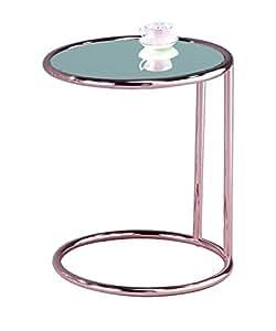 ASPECT Mia Round Side Coffee End Sofa Table, Copper/Mirror, 45x45x52 cm